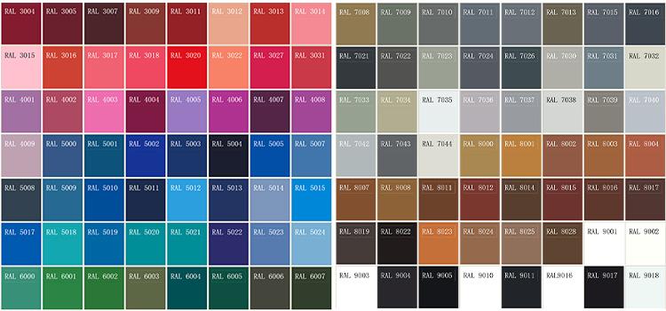 ppgi ppgl ral color
